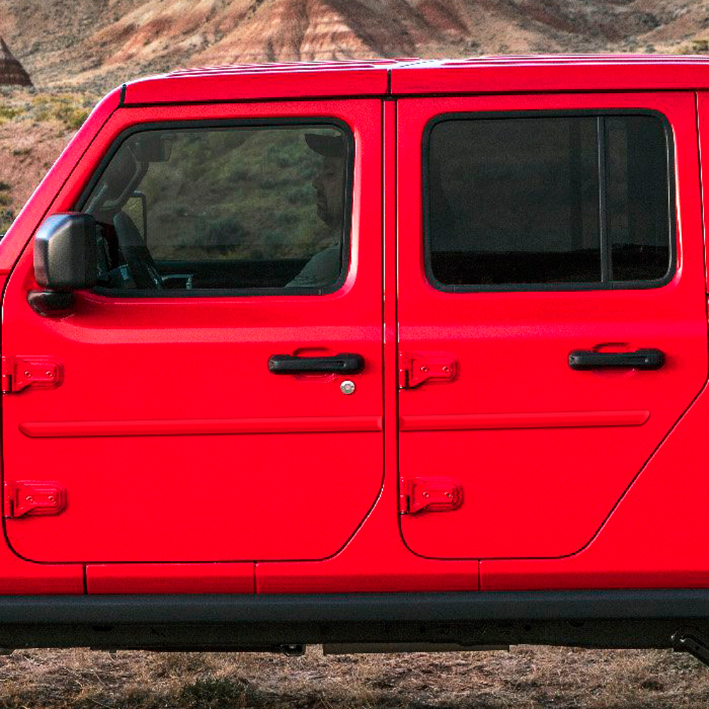 jeep gladiator painted body side molding 2020 - 2021 / fe