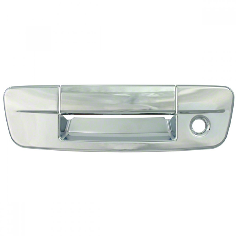 W// Keyhole For 2017 Ram 2500 Chrome Tailgate Handle Cover