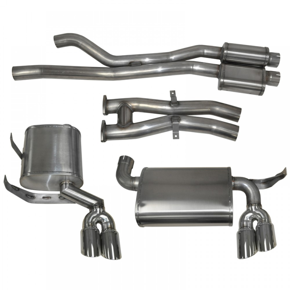 "BMW M3 E46 Polished 2.5"" Dual Rear Cat-Back Exhaust Kit"