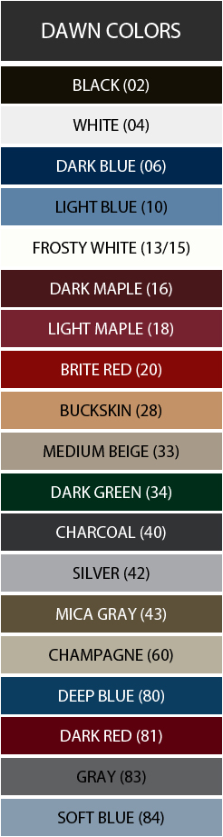 Dawn Color Swatches